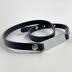 Armband med gravyr - Svart