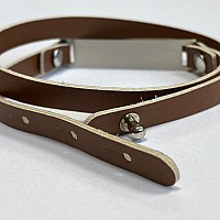 Armband med namn - Brun