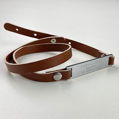 Armband med gravyr - Brun