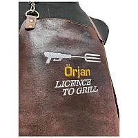 Skinnförkläde med namn - Licence to Grill