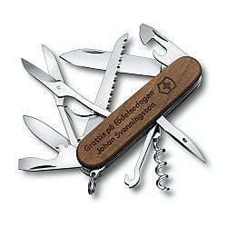 Victorinox Huntsman Wood - Fickkniv med namn