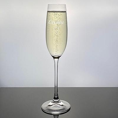 Champagneglas Salute med gravyr - Heart