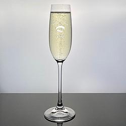 Champagneglas Salute med gravyr - Student