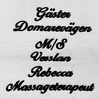 Handduk med namn - Vit - Kursiv text