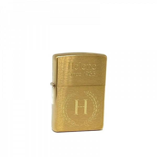 Zippo Tändare Med Gravyr - Brushed Gold