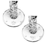 Orrefors Carat Candlestick - Double Love