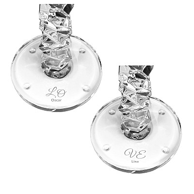 Orrefors Carat Candlestick - Double Love (2st)