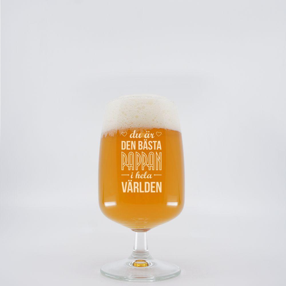 Ölglas med gravyr- Älg