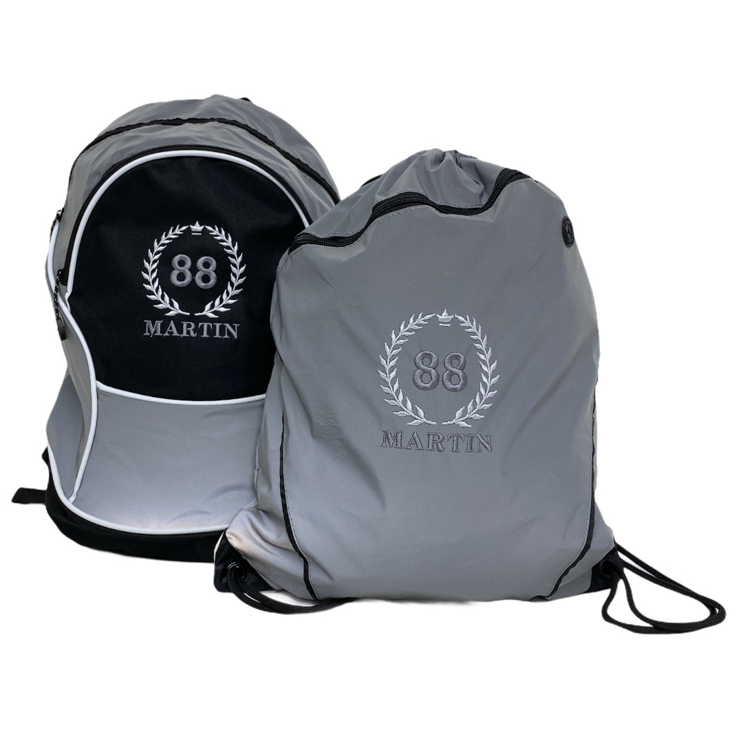Ryggsäck + Gympapåse med namn - Reflex